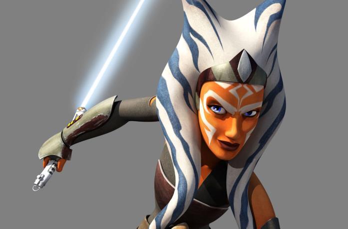 Un'immagine di Ashoka Tano in Star Wars Rebels