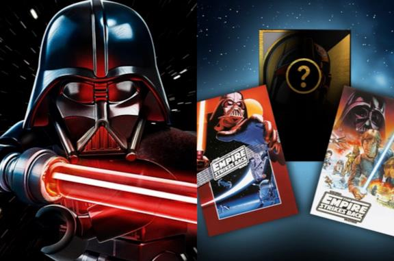 Le carte di Star Wars LEGO e la minifigure di Darth Vader
