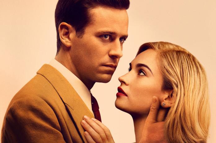 Armie Hammer e Lily James nel poster di Rebecca di Netflix