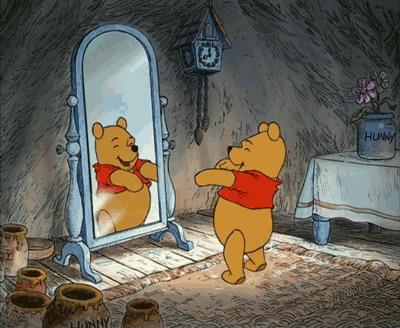 Winnie the Pooh allo specchio