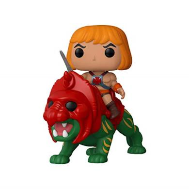 Funko- Pop Ride: Masters of The Universe-He-Man on Battle Cat Figura da Collezione, Multicolore, 47680