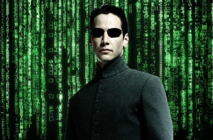 Un'immagine di Neo nel poster di Matrix Revolutions