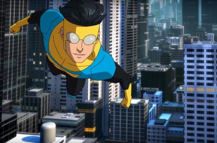 Mark Grayson sta volando tra i palazzi della sua città