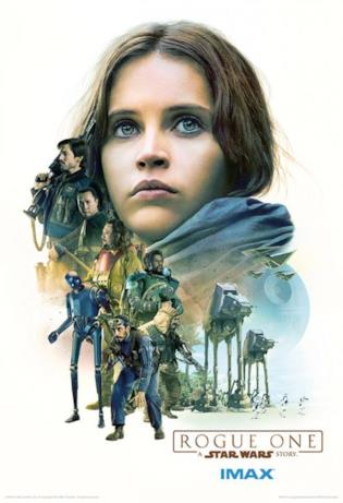 poster IMAX di Rogue One: A Star Wars Story con Jyn Erso