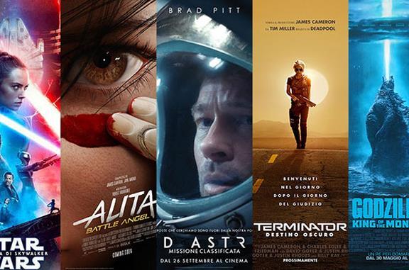 I poster di Star Wars IX, Alita. Ad Astra, Terminator 3, Godzilla II
