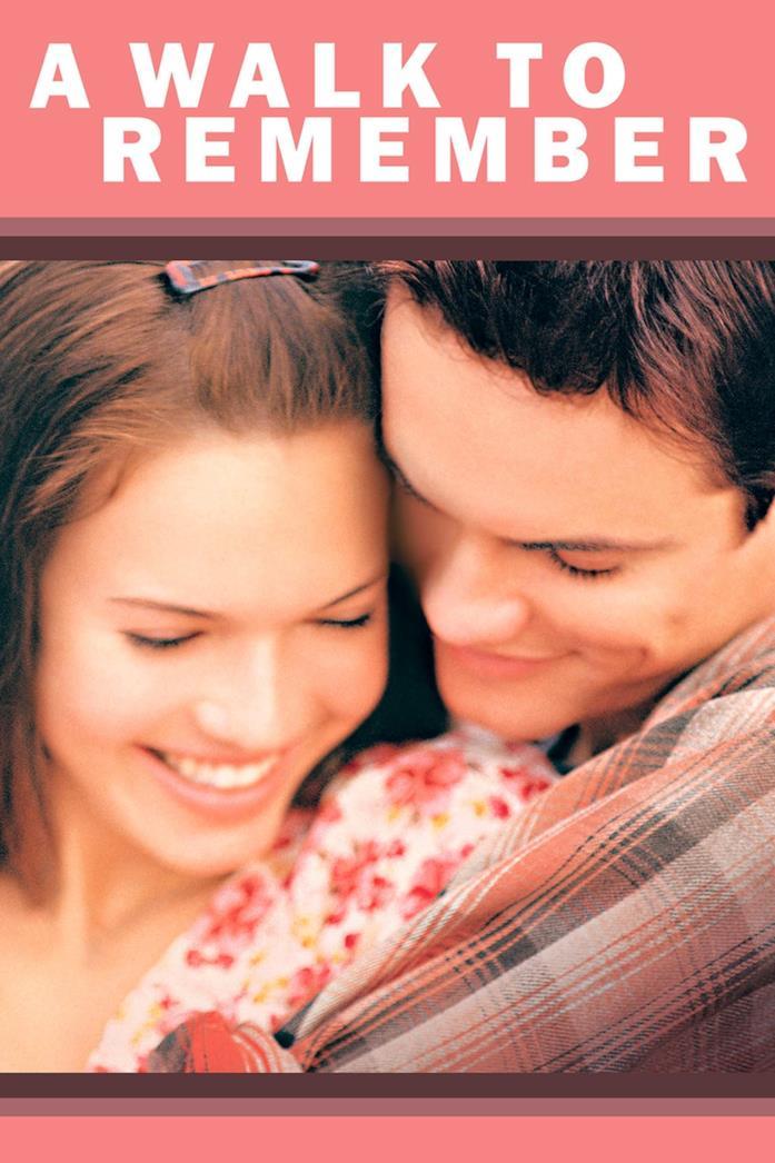 Mandy Moore e Shane West abbracciati nel poster de I passi dell'amore