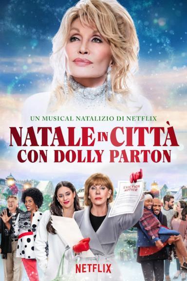 Poster Natale in città con Dolly Parton