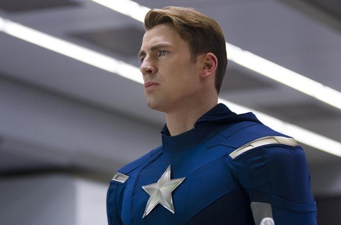 Chris Evans nel ruolo di Cap