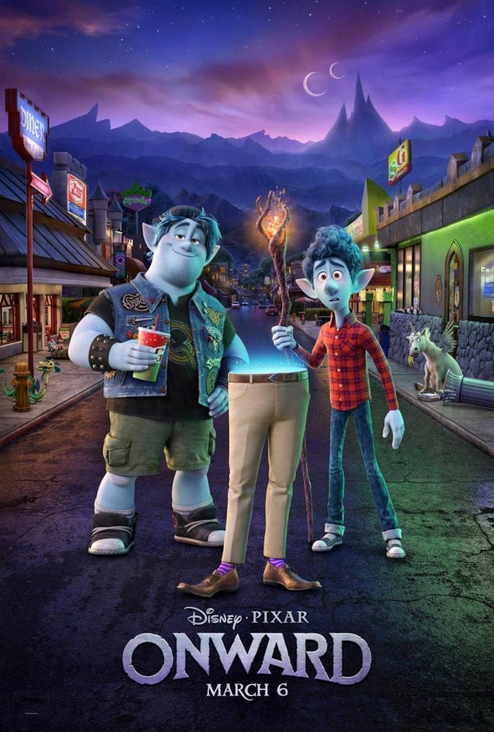 La locandina del nuovo film Pixar Onward