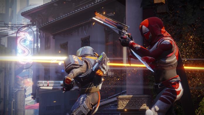 Due Guardiani combattono nel Crogiolo di Destiny 2