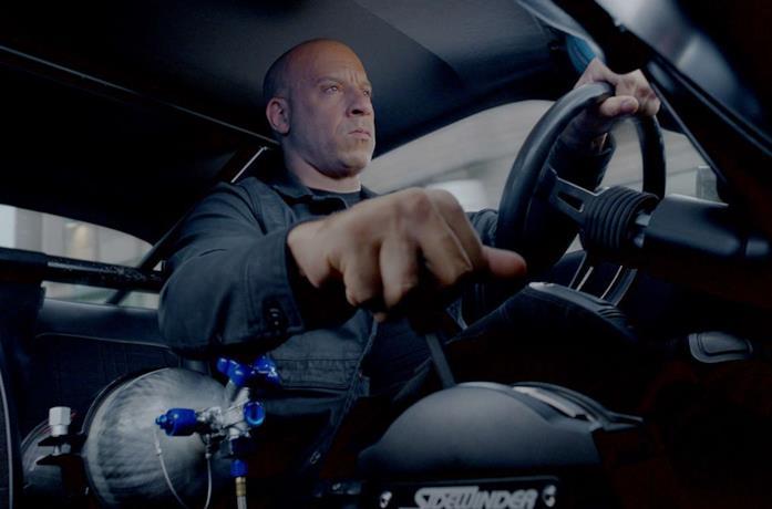 Vin Diesel in una scena del film Fast & Furious 8