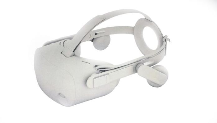Rendering del nuovo visore di HP per la realtà virtuale