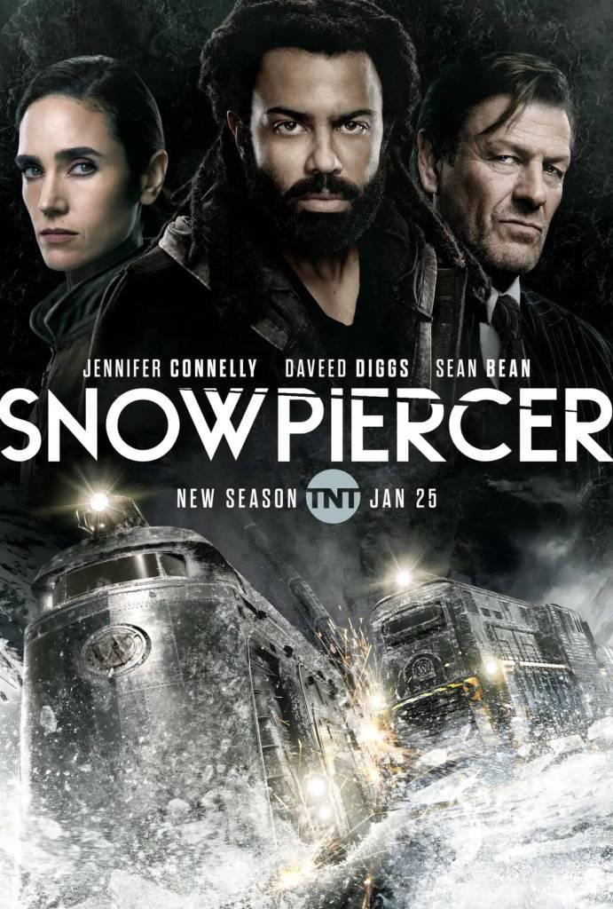 Il treno al centro del poster della seconda stagione di Snowpiercer