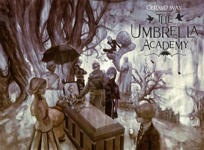Il funerale con cui si apre Umbrella Academy