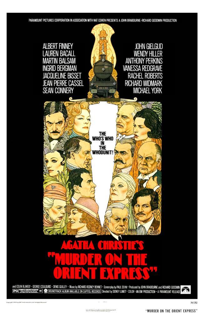 Assassinio sull'Orient Express, la locandina originale