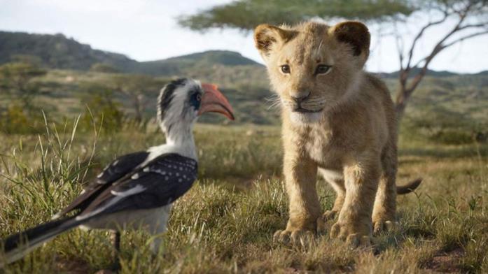 Simba e Zazu in una scena de Il Re Leone (2019)