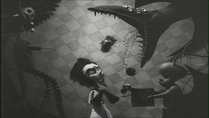Una scena del corto Vincent