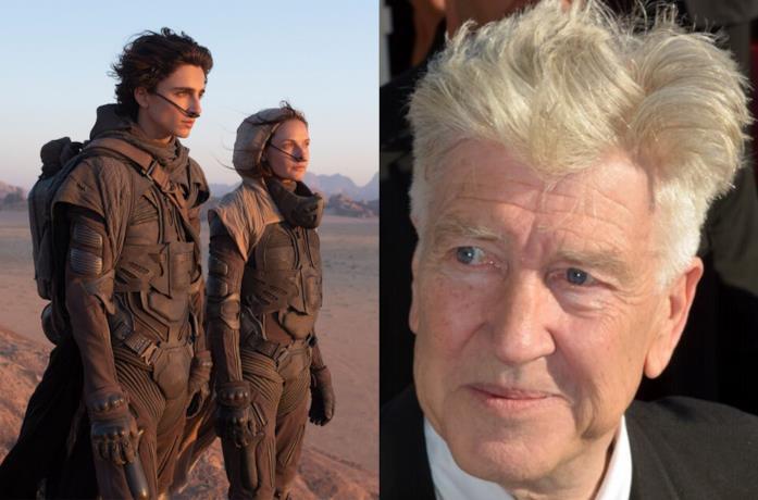 Una foto del nuovo Dune e un ritratto di David Lynch