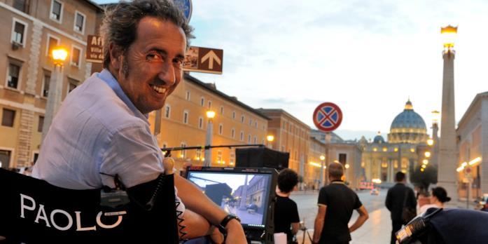 Paolo Sorrentino sul set