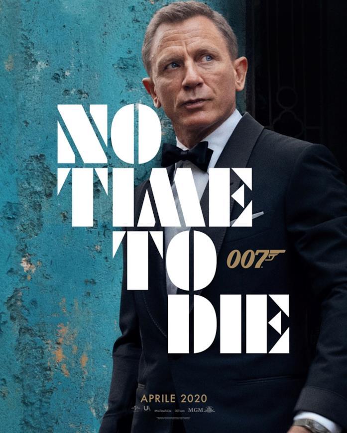 La locandina italiana del nuovo film di 007