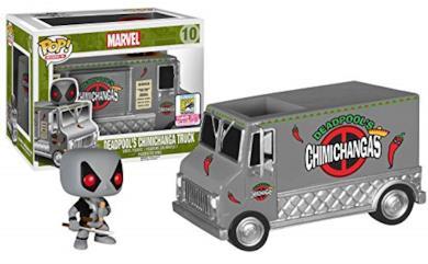 Funko- Pop Vinyl Marvel Comics Vehicle with Figure 10 Deadpool's Chimichanga Truck Statua Collezionabile-Summer Convention Exclusive 2015, 5695