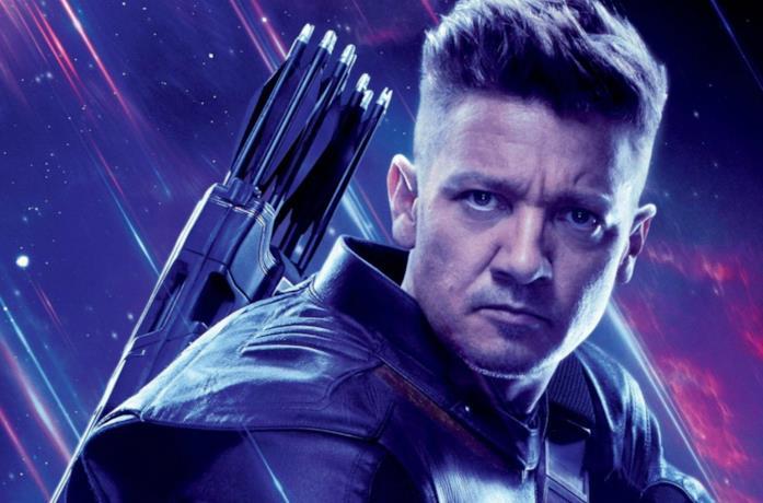 Un'immagine di Hawkeye nel poster di Avengers: Endgame