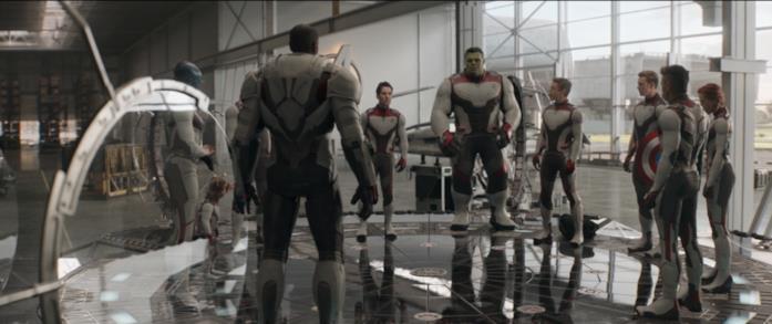 I Vendicatori in una scena di Avengers: Endgame