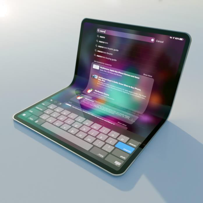 Il concept di un iPad pieghevole