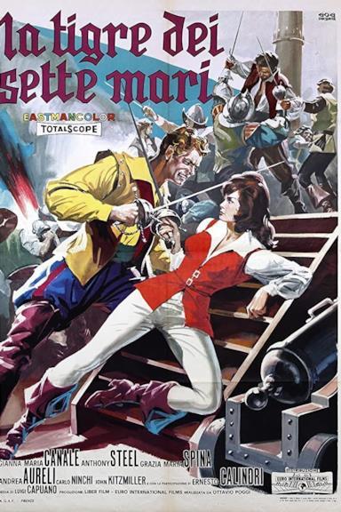 Poster La tigre dei sette mari