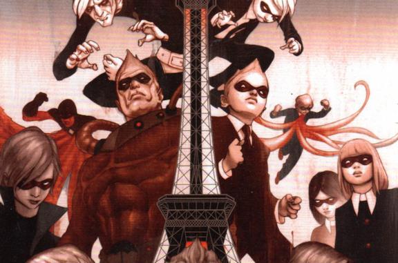 I protagonisti di The Umbrella Academy sulla cover dei fumetti