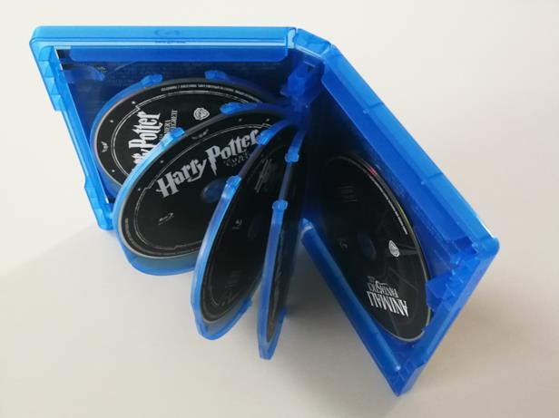 L'interno del cofanetto di Harry Potter