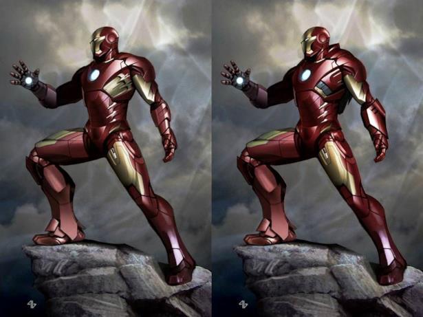 L'armatura luccicante di Iron Man che si vede in The Avengers
