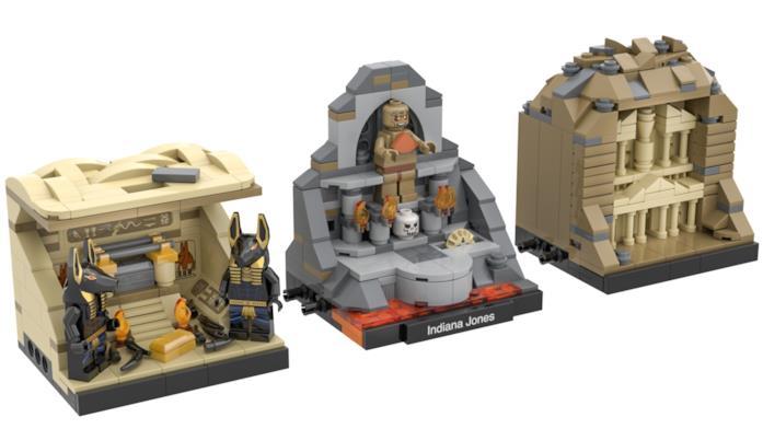 Funzione modulare del set LEGO di Indiana Jones