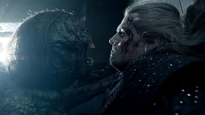 Geralt e la strige nella terza puntata di The Witcher