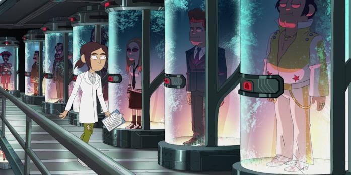 Una scena della serie Inside Job