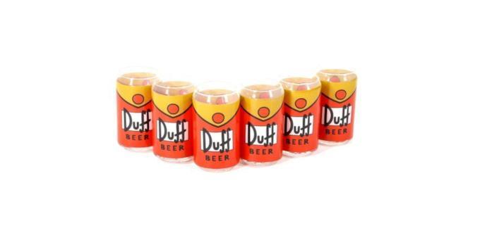 Il set da 6 bicchieri tratto dalla serie I Simpson