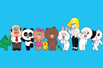 I personaggi di Line Friends