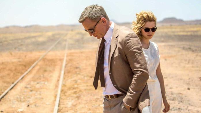 Daniel Craig e Léa Seydoux in una scena del film