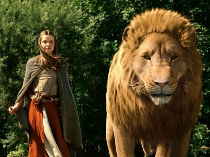 Lucy Pevensie ed il leone Aslan