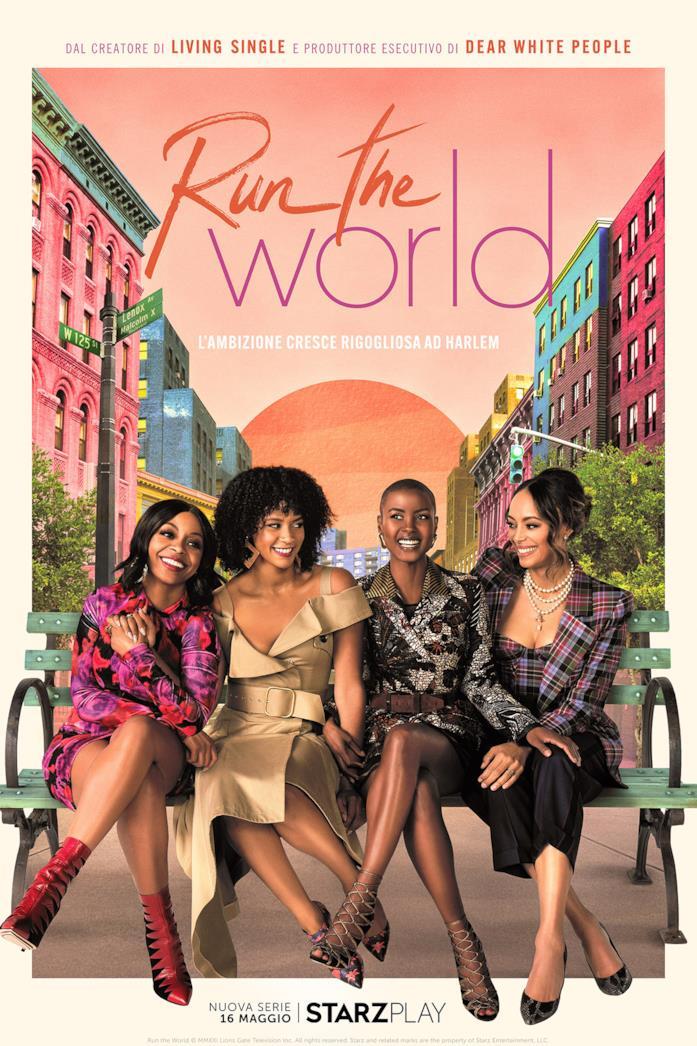 Il cast nella locandina di Run the World