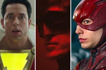 Da sinistra: Shazam, Batman e Flash