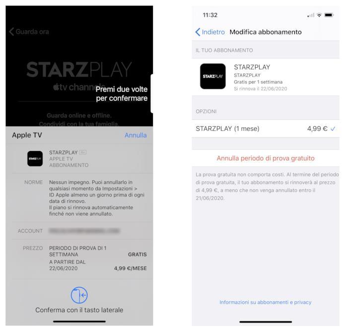 Abbonamento a STARZPLAY via Apple TV