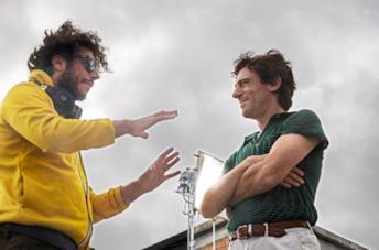 Sibilia e Germano sul set del film