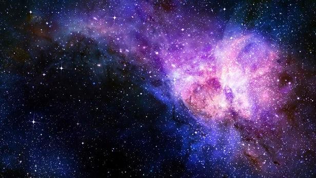 Una rappresentazione ipotetica di materia ed energia oscura