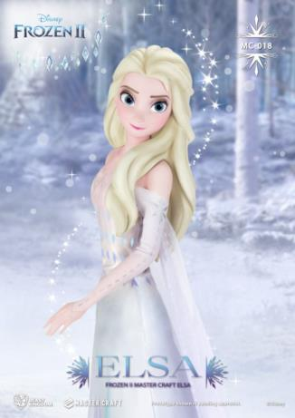 Elsa nella sua statua dedicata a Frozen 2