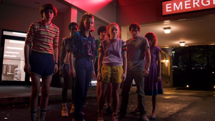Il cast nella terza stagione di Stranger Things