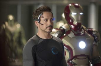 Robert Downey Jr. nei panni di Tony Stark in Iron Man 3