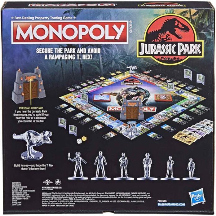Monopoli Jurassic Park retro