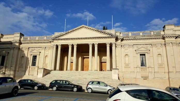 La facciata della British Academy a Roma