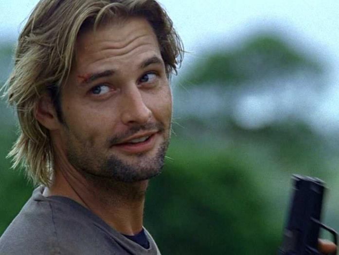 Sawyer in una scena di Lost